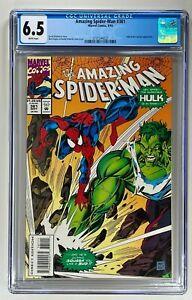 Amazing Spider-Man #381 / CGC 6.5 FN+ (Marvel 1993) / Mark Bagley Hulk Cover
