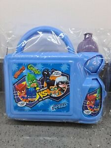 PJ Mask vs The Baddies School hard Lunch box with water bottle - NEW