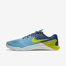 320d703ab03 Mens Nike Metcon 3 Sz 11 Chlorine Blue ElectroLime 852928-401 FREE SHIPPING