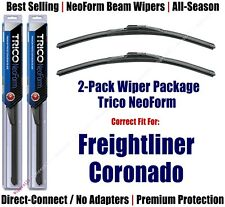 2pk Super-Premium NeoForm Wipers fit 2001-2016 Freightliner Coronado 16220x2