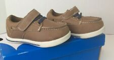 Jumping Beans Toddler Boys Size 5 Tan Brown Casual Dress Slip On Boat Shoes NEW