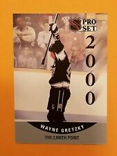 1990-91 Pro Set Hockey The 2000th Point #703 Wayne Gretzky