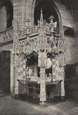 AIN. Brou. Tombeau de Marguerite D'Autriche 1895 old antique print picture