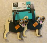 NWT G Force 2-pk PVC Dogs Luggage Tags Travel Bag Accessories #190612-146