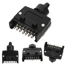7-Pin Flat Trailer Plug Light Connector 12V 7 Way Male Trailer Adapter Caravan M