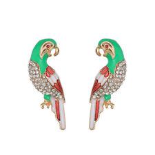 Alloy Bird Shaped Rhinestone Parrot Animal Stud Earrings Jewelry Chic