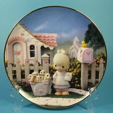 Precious Moments Collector Plate God Loveth A Cheerful Giver 1993 Usa Hamilton