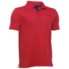 Abbigliamento rossi Under armour a manica corta per bambini dai 2 ai 16 anni