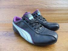 Puma Janine Dance Glitter Stripe Girls Trainers Casual Shoes Size 13k / 32