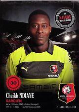 FOOTBALL carte joueur CHEIKH NDIAYE équipe STADE RENNAIS saison 2012/2013