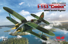 ICM 32010 WWII Soviet Fighter I-153 Chaika (100% New Molds) in 1:32
