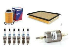 Service kit OIL AIR FUEL FILTERS SPARK PLUGS ACDelco suitable for VZ COMMODORE V