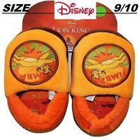 New Toddler size 9/10 Disney Simba, The Lion King Slippers Boys Girls orange