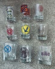 Lot of 8 College shot glasses