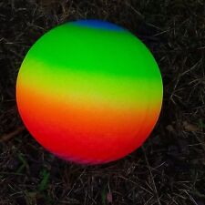 """rainbow neon colors eight inch outdoor playground ball 8"""""""
