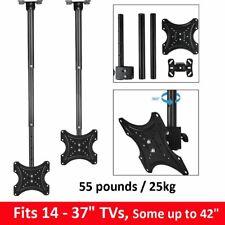 "TV Ceiling Mount 14 18 24 29 32 37 42"" LED Plasma LCD Bracket Tilt Adjustable UK"
