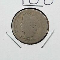 1889 Liberty Head V Nickel Choice AG ABOUT GOOD Circulated