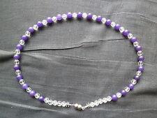 Handgefertigte Modeschmuck-Halsketten & -Anhänger aus Edelsteinen mit Amethyst