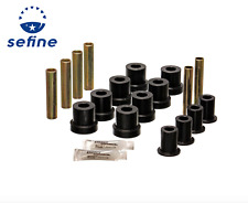 Energy Suspension Leaf Spring Bushing Set Black Front for Chevrolet # 3.2131G