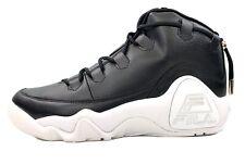 FILA 95 Primo Black Leather Basketball Shoes 1BM00203-013 Men Size 11