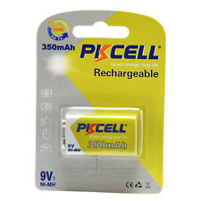 1PC PKCELL 9V 350mAh Ni-MH Rechargeable Battery  PP3 for Smoke Detector