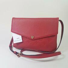 Authentic Louis Vuitton Twice Monogram Empreinte Cerise M50259 Guaranteed LC672