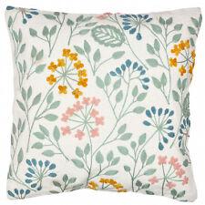18'' Pillow Cotton Decor flowers Blue Throw Case Cover Vintage Cushion Linen