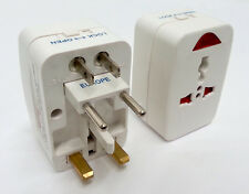 Adaptador de Enchufe de Viaje Mundial Universal Reino Unido EU USA ligero 2 Pin 3 Pin