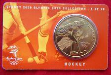 Sydney 2000 Olympic Coin Collection, $5 UNC RAM Coin - HOCKEY 5/28