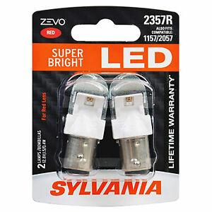 Sylvania Zevo 2357 Red LED Bright Interior Exterior Mini Light Bulb Set, 2 Pack