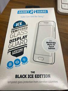 Gadget Guard Black Ice Tempered Glass Screen For Motorola Moto Z2 Force open box