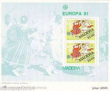 PORTUGAL / MADEIRA  S/ S EUROPA CEPT (1981)  MNH