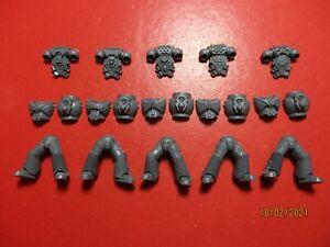 Warhammer 40k Space Marine Mk 6 Armour Torso Body Legs x5 Bits Box