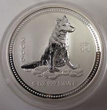 2006 Australian Lunar I Dog Hund 5 oz silver 8 dollars
