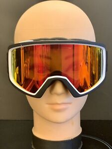 Giro Cruz Ski Snowboard Goggles Black Wordmark Amber Scarlet - Zeiss