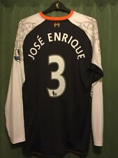 Liverpool Third 3rd Shirt 2012-2013 Jose Enrique 3 XL L/S Warrior