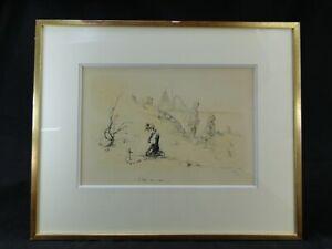 POULBOT Francisque (1879-1946) Enfants de la Grande Guerre Gravure originale 1/2