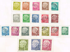 Germany Famous President Theodor Heuss 20 stamps long set set 1954 CV$30
