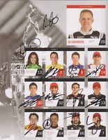 2018 Indianapolis 500 Starting Field Line-up SIGNED BY ALL 33 Indy Race Drivers