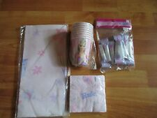 4pc Lot of 2003 Party Express Barbie Multi-color Birthday Party Goods NOS