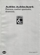 Brochure Depliant Audi 100 - Audi 100 Avant 1979 Italiano 42 pagine