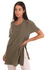 New ListingRrp €195 Equipment Femme Silk Top Size Xs Slit Sides Short Sleeve Oversized