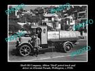 OLD LARGE HISTORIC PHOTO OF SHELL OIL COMPANY PETROL TANKER, c1920s NEW ZEALAND