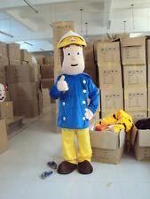 Cosplay Professional Fireman Sam Mascot Costume Fancy Dress Firefighters Cartoon