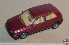 MICRO HERPA HO 1/87 VW VOLKSWAGEN GOLF ROSE FONCE METAL