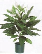 """35"""" SPATHIPHYLLUM ARTIFICIAL SILK BUSH PLANT DAY LILLY IN POT TREE FLOWER FLORAL"""