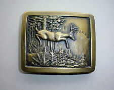 Leaping Deer Belt Buckle - Outdoor Sports/Hunting - Vintage (1977) Collectible