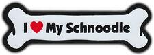 Dog Bone Magnet: I Love My Schnoodle | For Cars, Refrigerators, More