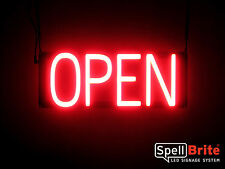 SpellBrite Ultra-Bright OPEN Sign Neon look LED performance