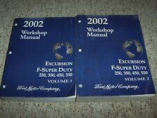 2002 Ford Excursion Shop Service Repair Manual XLT Limited 5.4L 6.8L 7.3L Diesel